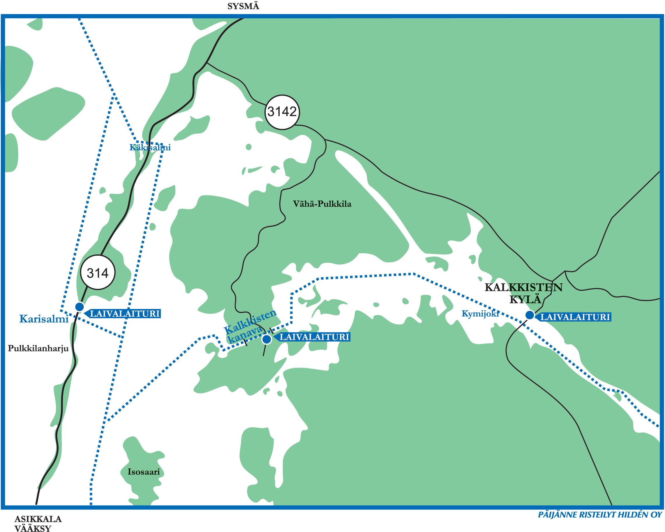 Karisalmi Lahestyskartta Paijanne Cruises Hilden