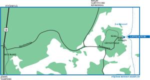 Saynatsalo Lahestymiskartta Paijanne Cruises Hilden